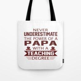Papa Teacher Tote Bag
