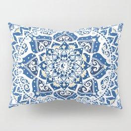 Yin Yang Mandala Pattern (Blue & Yellow) Pillow Sham