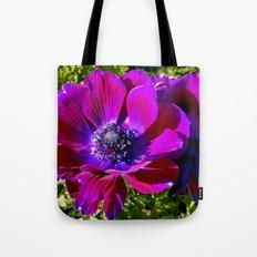 Burgundy Poppy Anemone I Tote Bag