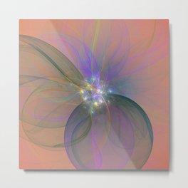 Fairy Blossom Fractal Metal Print