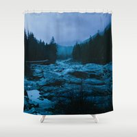 west coast Shower Curtains featuring West Coast by ILIA PHOTO + CINEMA