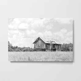 Saluda Barn No. 15 B&W Metal Print