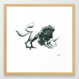 chat paon Framed Art Print