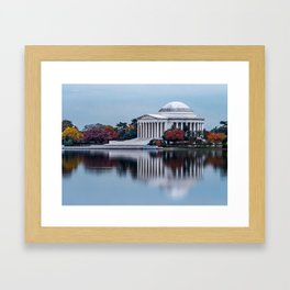 Jefferson In Baby Blue Framed Art Print