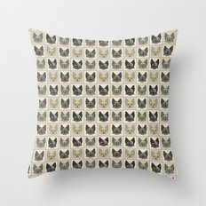 Anime Cat Faces Pattern Throw Pillow