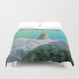 This is Not Easter Island Duvet Cover