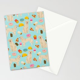 Golden Retriever donuts french fries ice cream pizzas funny dog gifts dog breeds Stationery Cards