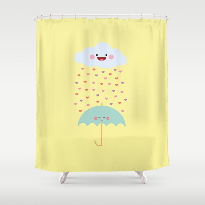 Love Rain Shower Curtain