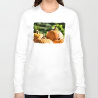vegetable Long Sleeve T-shirts featuring  autumn vegetable by Karl-Heinz Lüpke