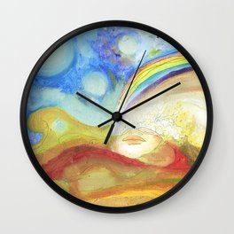 The Earth she is Alive Wall Clock