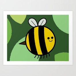 Cutesy Crawlies — Bumblebee Art Print