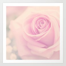 Vintage rose - Beautiful lightpink flower -Roses Art Print