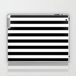 Horizontal Stripes (Black/White) Laptop & iPad Skin