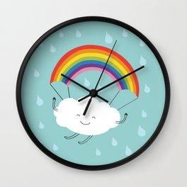 rainbow parachute Wall Clock