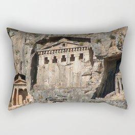 Lycian Tombs Cut From Rock Circa 400 BC Rectangular Pillow
