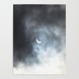 Cloudy Eclipse Poster
