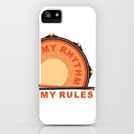 My Rhythm My Rules iPhone Case