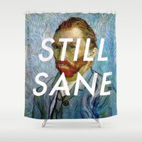 lorde Shower Curtains featuring van Gogh is Still Sane by Lorde Art History