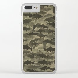 Fresh water fish camouflage Clear iPhone Case