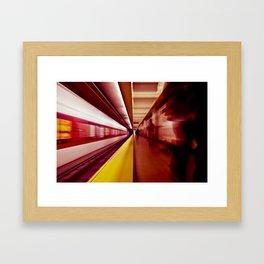 Fast Transit Framed Art Print