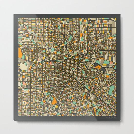 HOUSTON MAP Metal Print