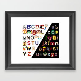 Marvelphabet Framed Art Print
