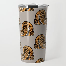 Tiger Stretching Travel Mug