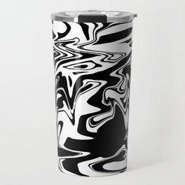 snow and shadow, abstract Travel Mug