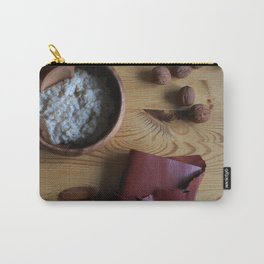 Book and oatmeal Carry-All Pouch