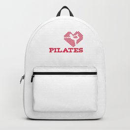 Contrology Fitness Balancing Meditate Relaxation Muscle Exercises Healthy Living Gift I Love Pilates Backpack