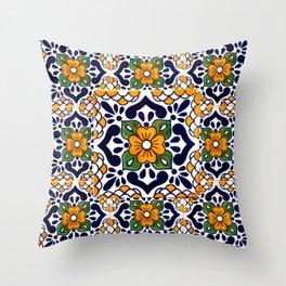 talavera mexican tile_4 Throw Pillow