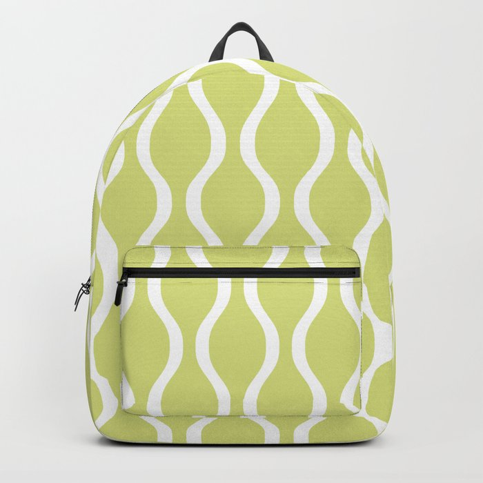 Classic Retro Ogee Pattern 731 Chartreuse Backpack