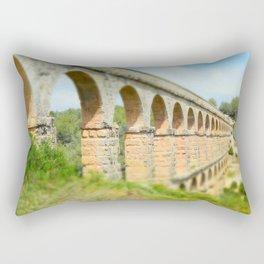 Ancient Roman Aqueduct Rectangular Pillow