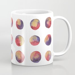 Polka Dots in Watercolor - Englisch Red, Violet & Gold Coffee Mug