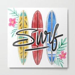 Aloha Surf Metal Print
