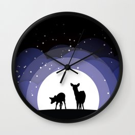 Deer Silhouette Wall Clock