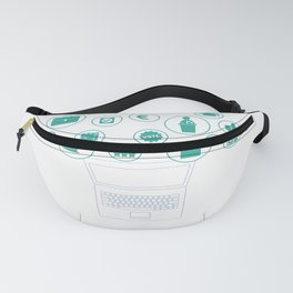 Social Media Can Wait Political Science Fanny Pack