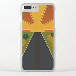 Flower Fields Forever Clear iPhone Case
