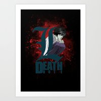 death note Art Prints featuring Death Note by feimyconcepts05