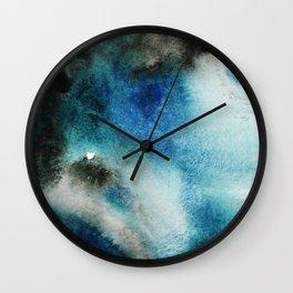 Blue Watercolor Wall Clock