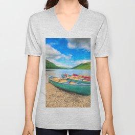 Geirionydd Lake Canoes Unisex V-Neck