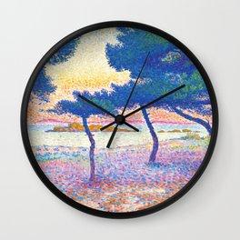 "Henri-Edmond Cross ""La Plage de Saint-Clair"" Wall Clock"