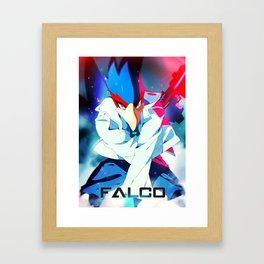 Melee | Falco - Blue Framed Art Print