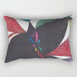 A Colorful Flight Rectangular Pillow