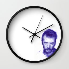 Mathieu Kassovitz on ballpen Wall Clock