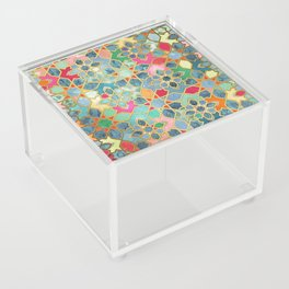 Gilt & Glory - Colorful Moroccan Mosaic Acrylic Box