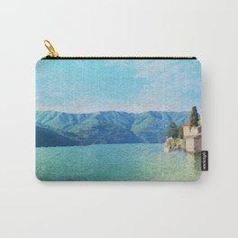 Lago di Como in watercolor Carry-All Pouch