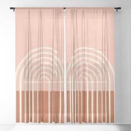 Terracota Pastel Sheer Curtain