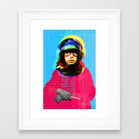 beastie boys Framed Art Prints featuring Gioconda Music Project · Beastie Boys · Adam Yauch by Marko Köppe