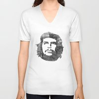 che V-neck T-shirts featuring Che by Attitude Creative